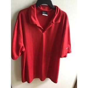 Men's Red Nike Golf Polo